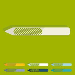 Flat design: nail file