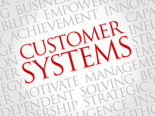 Customer Systems word cloud, business concept