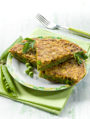 omelet with green peas