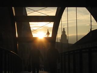 Закат над старым городом