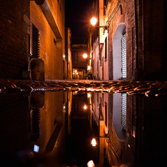 Dark Alley at Night