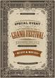 Vintage Retro Festival Poster Background - 80802291