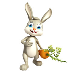 Easter Bunny character with carrot