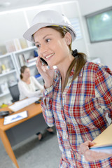 Female foreman in the office