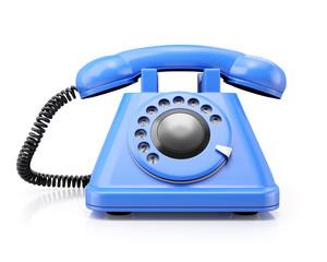 Blue classic telephone