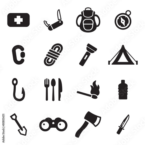Survival Kit Icons - 80803651