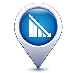 taux en baisse sur marqueur géolocalisation bleu