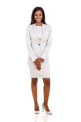 african businesswoman in a suit