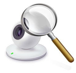 Webcam under a magnifying glass