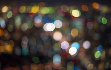 Urban traffic bokeh background