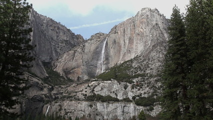 Yosemite Falls Upper And Lower Early Spring