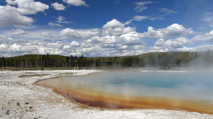 Sunset lake, Black Sand Basin, Yellowstone National Park