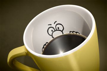 coffee cup surprise