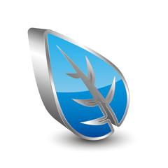 Leaf 3D icon