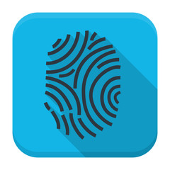 Fingerprint app icon with long shadow