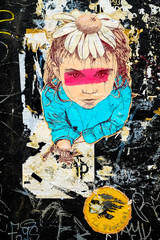 Flower girl graffiti