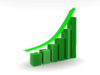 Grafica de crecimiento continuo