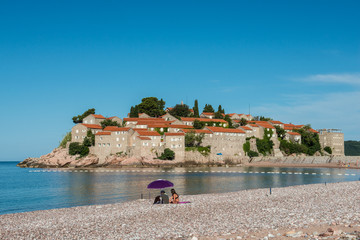 Sveti Stefan island, Budva, Montenegro