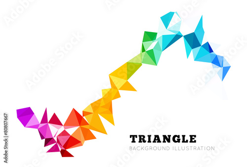 Vector abstract triangle background - 80807667