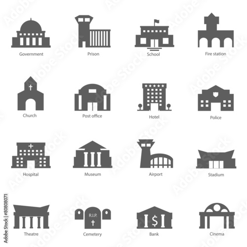 Set of government buildings - 80808071