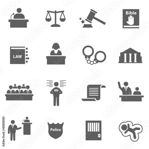 Set of law icons - 80808083