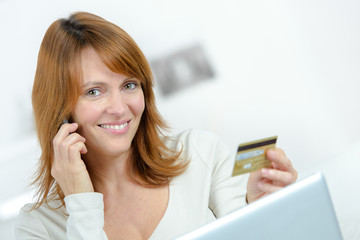 Woman doing some on-line shopping