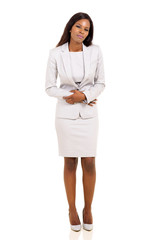 young african businesswoman having period pain