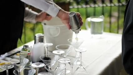 Bartender Pours Martini