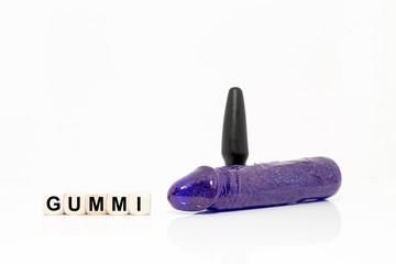 Dildo - Plug - Würfel - Gummi