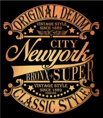 New york Vintage Slogan Man T shirt Graphic Vector Design