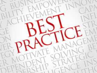 Best Practice word cloud, business concept