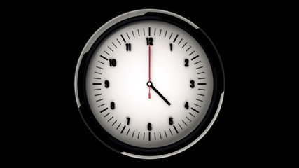 Realistic wall clock animation