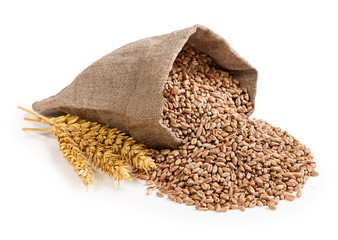 Wheat in bag