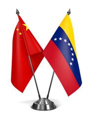 China and Venezuela - Miniature Flags.