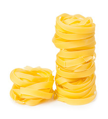 Pasta isolated on white background. Itallian cuisine.