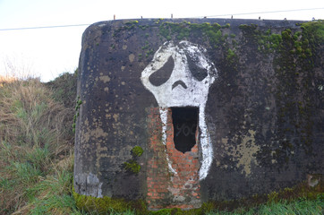 bunker in countryside