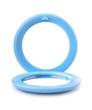Leinwandbild Motiv Blue plastic pocket mirror