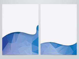 vector business brochure, flyer template, polygonal design