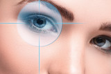 Female eyes. Eyesight concept