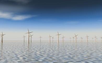 Windmolen park op het water