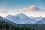 Pink cloud over the mountains in High Tatras