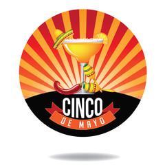 Cinco De Mayo burst icon