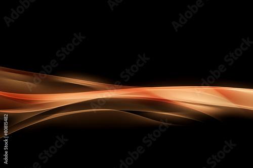 Zdjęcia na płótnie, fototapety, obrazy : Creative Orange Waves