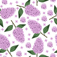 Lilac branch pattern seamless