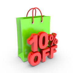 Discount on purchase of 10 percent.