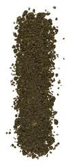 Alphabet of soil. Block capitals. Letter I