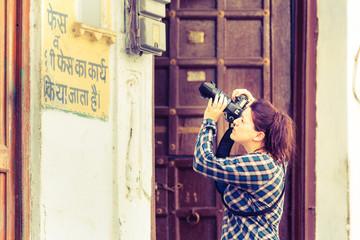 fotografin auf indiens straßen