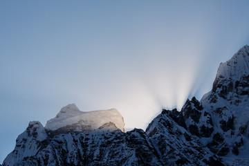 Sunrise in Himalaya mountains