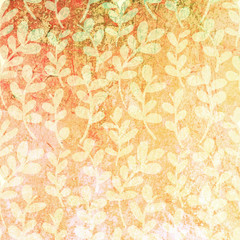 Grunge floral background. Vector texture background. Floral patt
