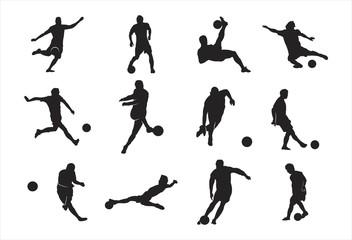 Silhouette of Football - Soccer